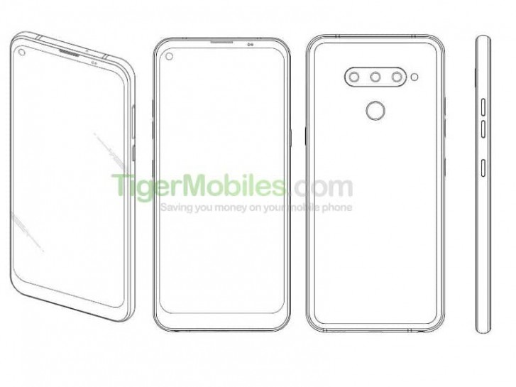 LG Patent for punch hole display design
