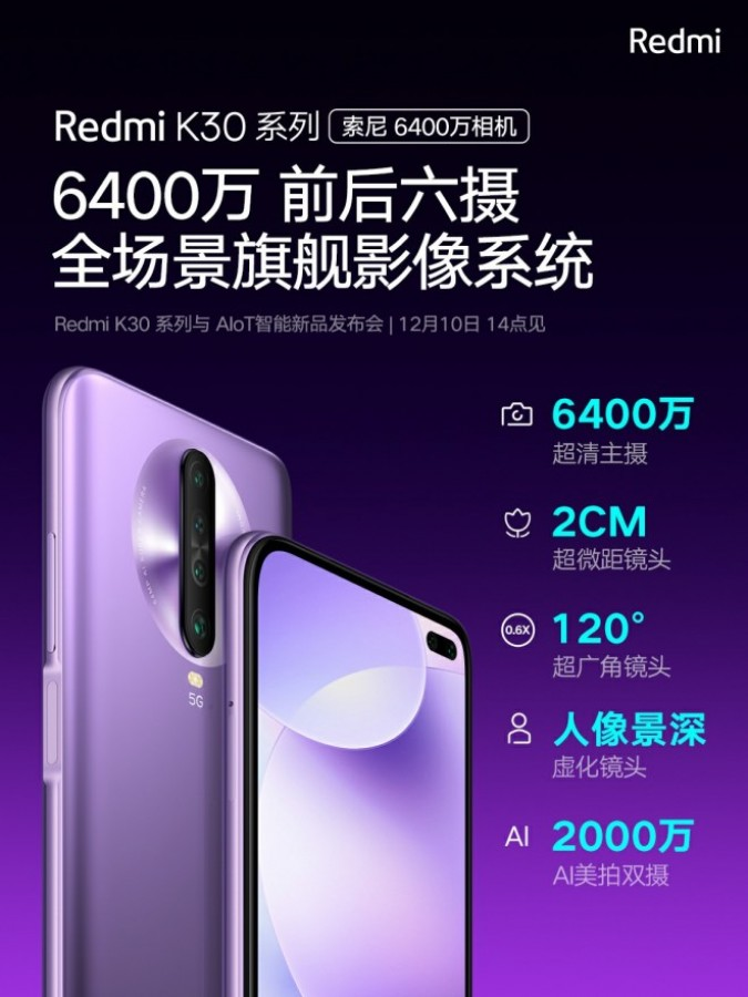 first smartphone 64mp sony imx686 redmi k30 camera